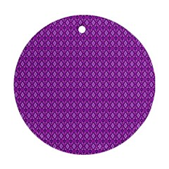 Surface Purple Patterns Lines Circle Round Ornament (two Sides) by Jojostore