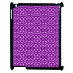 Surface Purple Patterns Lines Circle Apple iPad 2 Case (Black)