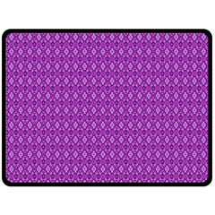 Surface Purple Patterns Lines Circle Double Sided Fleece Blanket (large)  by Jojostore