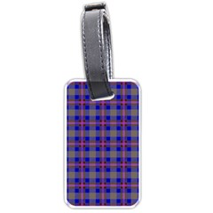 Tartan Fabric Colour Blue Luggage Tags (two Sides) by Jojostore