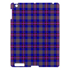 Tartan Fabric Colour Blue Apple Ipad 3/4 Hardshell Case by Jojostore