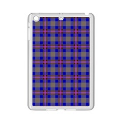 Tartan Fabric Colour Blue Ipad Mini 2 Enamel Coated Cases by Jojostore