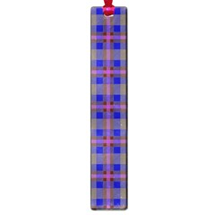 Tartan Fabric Colour Blue Large Book Marks by Jojostore