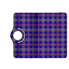 Tartan Fabric Colour Blue Kindle Fire Hdx 8 9  Flip 360 Case by Jojostore