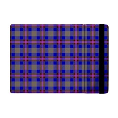 Tartan Fabric Colour Blue Ipad Mini 2 Flip Cases by Jojostore