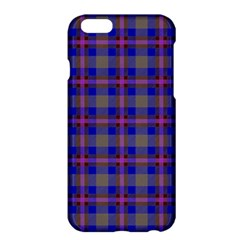 Tartan Fabric Colour Blue Apple Iphone 6 Plus/6s Plus Hardshell Case by Jojostore