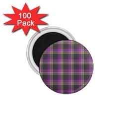 Tartan Fabric Colour Purple 1 75  Magnets (100 Pack)  by Jojostore