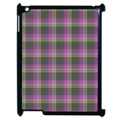 Tartan Fabric Colour Purple Apple Ipad 2 Case (black) by Jojostore