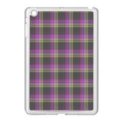 Tartan Fabric Colour Purple Apple Ipad Mini Case (white) by Jojostore