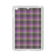 Tartan Fabric Colour Purple Ipad Mini 2 Enamel Coated Cases by Jojostore
