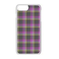 Tartan Fabric Colour Purple Apple Iphone 7 Plus White Seamless Case by Jojostore