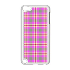 Tartan Fabric Colour Pink Apple Ipod Touch 5 Case (white) by Jojostore