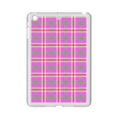 Tartan Fabric Colour Pink Ipad Mini 2 Enamel Coated Cases by Jojostore