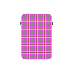 Tartan Fabric Colour Pink Apple Ipad Mini Protective Soft Cases by Jojostore