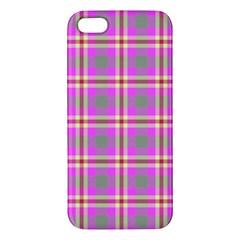 Tartan Fabric Colour Pink Iphone 5s/ Se Premium Hardshell Case by Jojostore