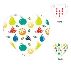 Fruit Lime Playing Cards (heart)  by Jojostore