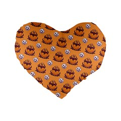 Helloween Moon Mad King Thorn Pattern Standard 16  Premium Heart Shape Cushions by Jojostore