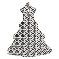 Triangel Plaid Christmas Tree Ornament (two Sides) by Jojostore