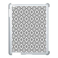Triangel Plaid Apple Ipad 3/4 Case (white) by Jojostore
