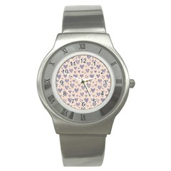 Heart Love Valentine Pink Blue Stainless Steel Watch by Jojostore