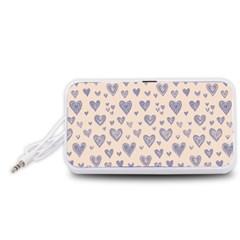 Heart Love Valentine Pink Blue Portable Speaker (white) by Jojostore