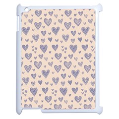 Heart Love Valentine Pink Blue Apple Ipad 2 Case (white) by Jojostore