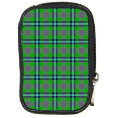 Tartan Fabric Colour Green Compact Camera Cases by Jojostore