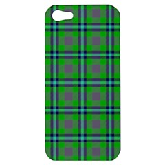 Tartan Fabric Colour Green Apple Iphone 5 Hardshell Case by Jojostore