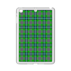 Tartan Fabric Colour Green Ipad Mini 2 Enamel Coated Cases by Jojostore