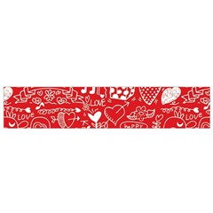Happy Valentines Love Heart Red Flano Scarf (small) by Jojostore