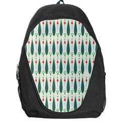 Geometric Blue Circle Blue Backpack Bag by Jojostore
