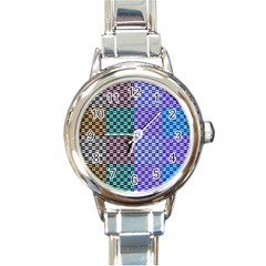 Alphabet Number Round Italian Charm Watch by Jojostore