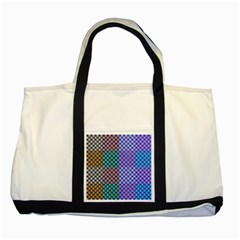 Alphabet Number Two Tone Tote Bag by Jojostore