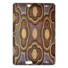 Aborigianal Austrialian Contemporary Aboriginal Flower Amazon Kindle Fire Hd (2013) Hardshell Case by Jojostore