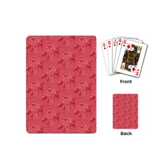 Animals Deer Owl Bird Bear Grey Red Playing Cards (mini)  by Jojostore