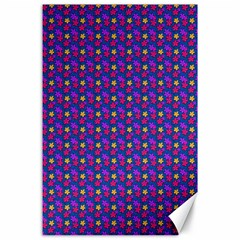 Beach Blue High Quality Seamless Pattern Purple Red Yrllow Flower Floral Canvas 24  X 36  by Jojostore