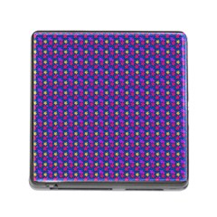 Beach Blue High Quality Seamless Pattern Purple Red Yrllow Flower Floral Memory Card Reader (square) by Jojostore
