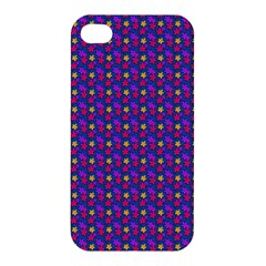Beach Blue High Quality Seamless Pattern Purple Red Yrllow Flower Floral Apple Iphone 4/4s Premium Hardshell Case by Jojostore