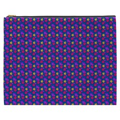 Beach Blue High Quality Seamless Pattern Purple Red Yrllow Flower Floral Cosmetic Bag (xxxl)  by Jojostore