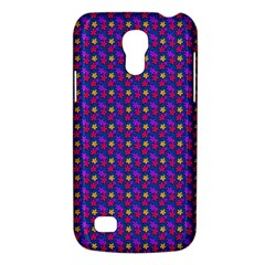 Beach Blue High Quality Seamless Pattern Purple Red Yrllow Flower Floral Galaxy S4 Mini by Jojostore
