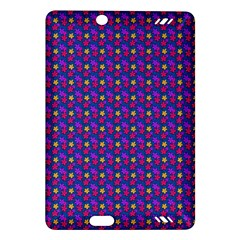 Beach Blue High Quality Seamless Pattern Purple Red Yrllow Flower Floral Amazon Kindle Fire Hd (2013) Hardshell Case by Jojostore