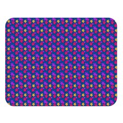 Beach Blue High Quality Seamless Pattern Purple Red Yrllow Flower Floral Double Sided Flano Blanket (large)  by Jojostore