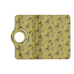 Animals Deer Owl Bird Grey Kindle Fire Hd (2013) Flip 360 Case by Jojostore