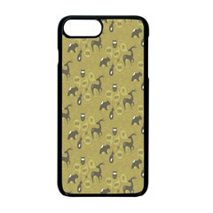 Animals Deer Owl Bird Grey Apple iPhone 7 Plus Seamless Case (Black) by Jojostore
