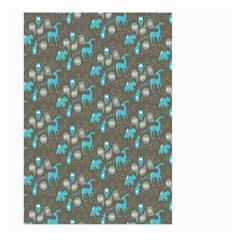 Animals Deer Owl Bird Bear Bird Blue Grey Large Garden Flag (two Sides) by Jojostore
