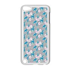 Animals Deer Owl Bird Bear Grey Blue Apple Ipod Touch 5 Case (white) by Jojostore