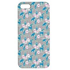 Animals Deer Owl Bird Bear Grey Blue Apple Iphone 5 Hardshell Case With Stand by Jojostore