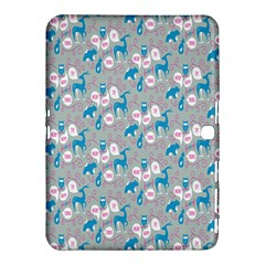 Animals Deer Owl Bird Bear Grey Blue Samsung Galaxy Tab 4 (10 1 ) Hardshell Case  by Jojostore