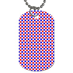 Blue Red Checkered Plaid Dog Tag (two Sides) by Jojostore