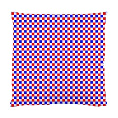 Blue Red Checkered Plaid Standard Cushion Case (one Side) by Jojostore